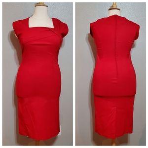 TATYANA Cap Sleeve Square Neck Wiggle Dress NWOT